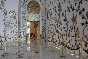 corridoi della moschea di Sheikh Zayed a abu dhabi