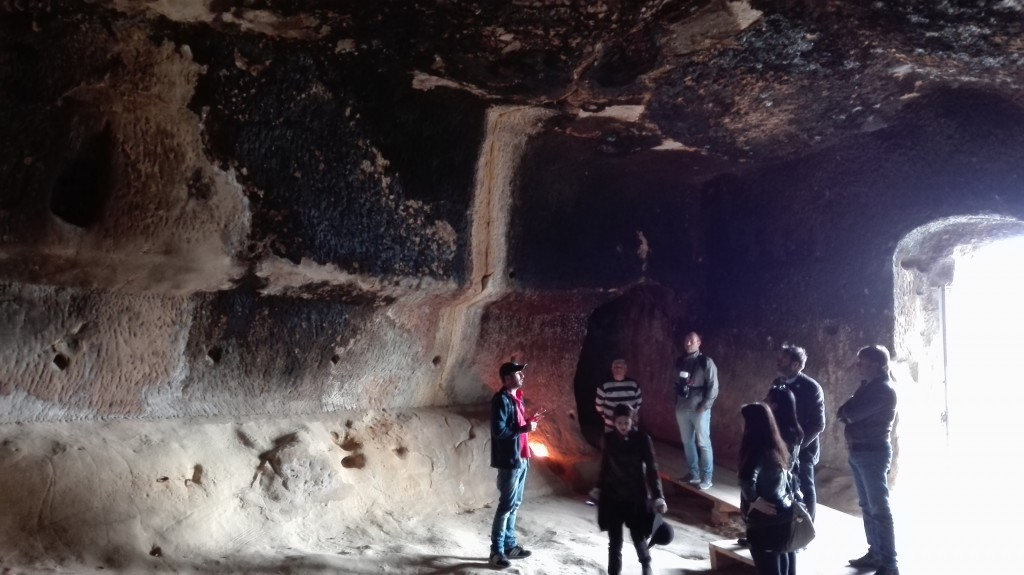 l'interno delle grotte della gurfa nelle madonie
