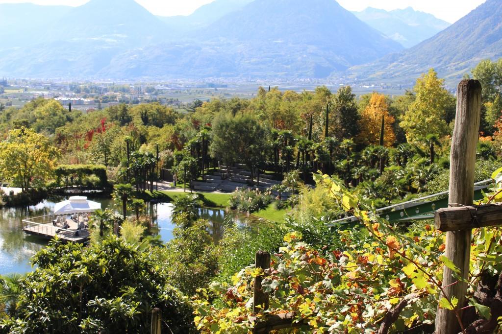dall'alto giardini di Castel Trauttmansdorf in autunno