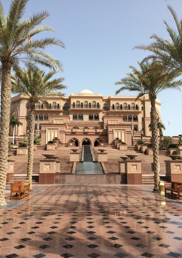 Una visita all'Emirates Palace di Abu Dhabi