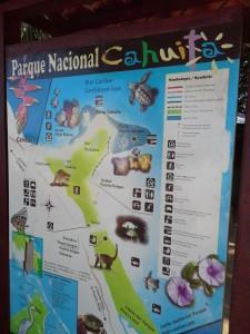 CARTELLONE DEL P.N. cAHUITA