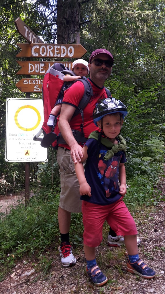 trekking con bambini in val di non