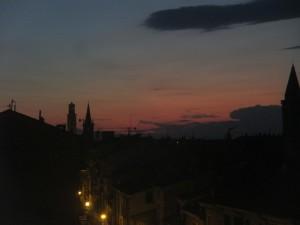tramonto estate toscana