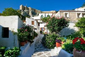casette nel quartiere dell'acropoli ad atene