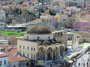 la zona di Monastiraki ad Atene