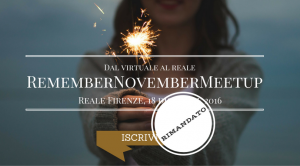 REMEMBER NOVEMBER RIMANDATO