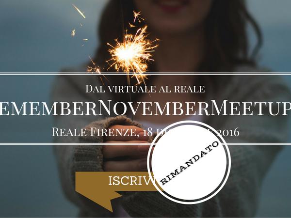 Il Futuro di #RememberNovember: #17GOGOGO e Meetup