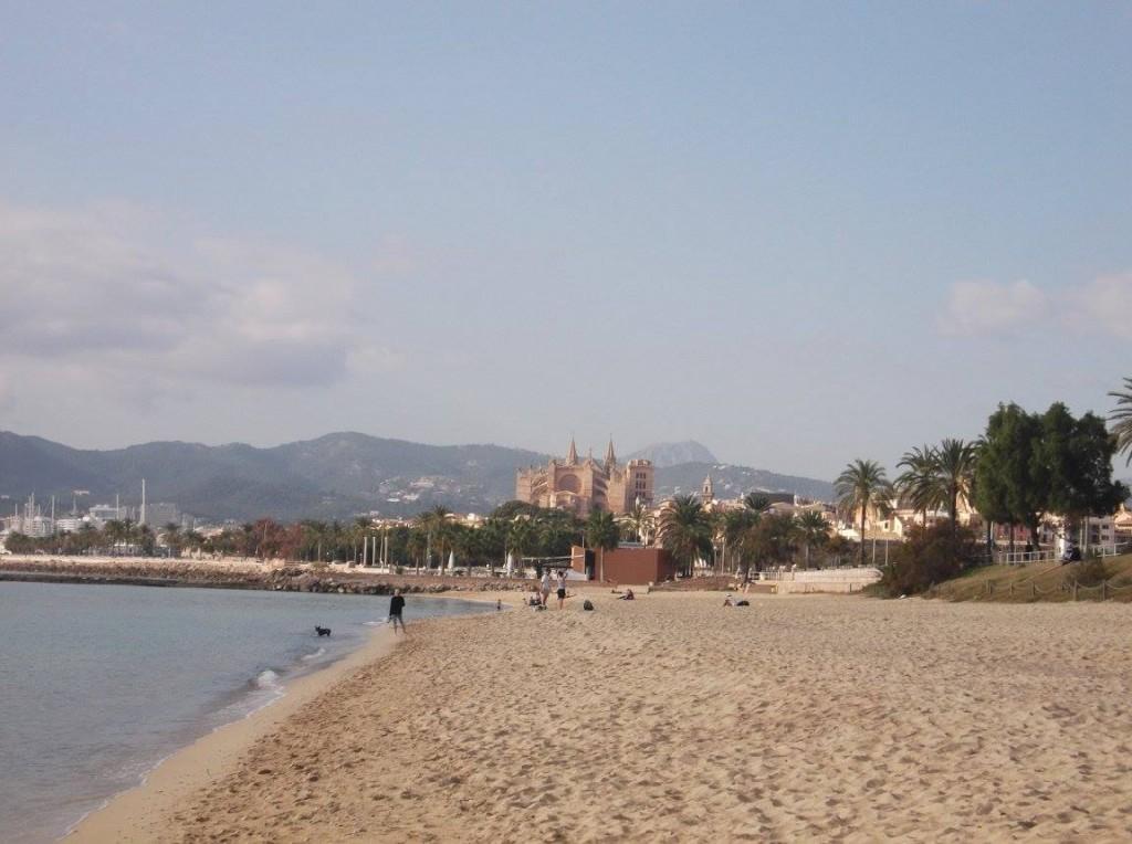spiaggia di palma di maiorca in inverno