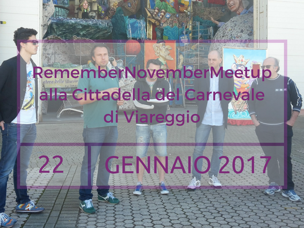RememberNovemberMeetup: nuova data e programma