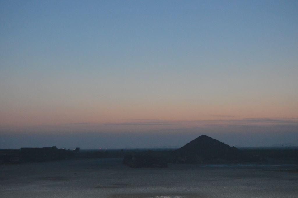 tramonto sulla salina