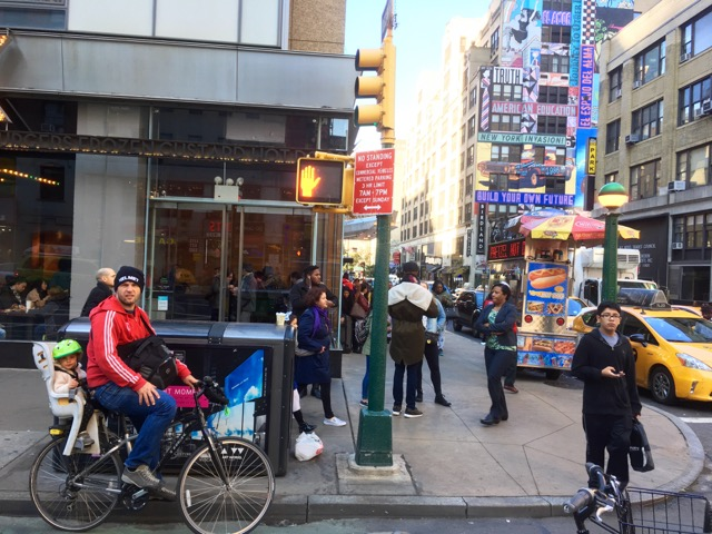 New York con i bambini in bici-Manhattan