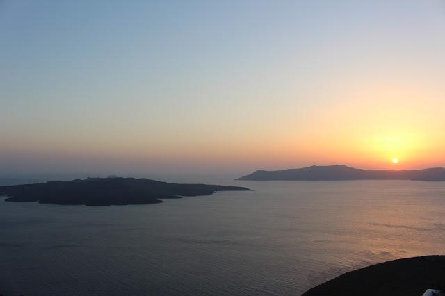 tramonto a santorini