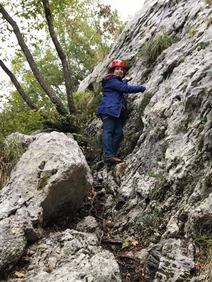 silvia ceriegi freeclimbing in versilia