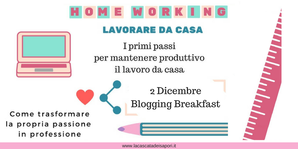 Home Working Lavorare da casa Blogging Breakfast