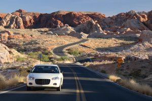 Rental Car on Scenic Road