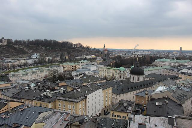 città di salisburgo vista dall alto