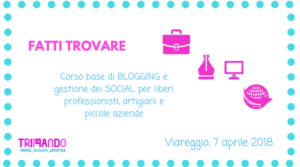 fatti trovare: corso di social network e blogging per professionisti