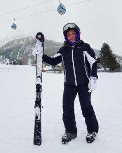 silvia ceriegi sulla neve