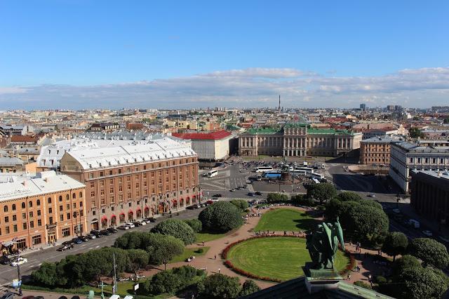 veduta di San Pietroburgo dalla Cattedrale di Sant Isacco