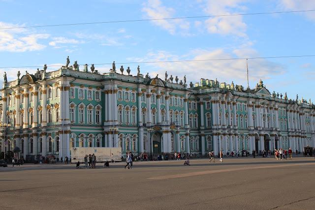il palazzo d'invernoa  san Pietroburgo