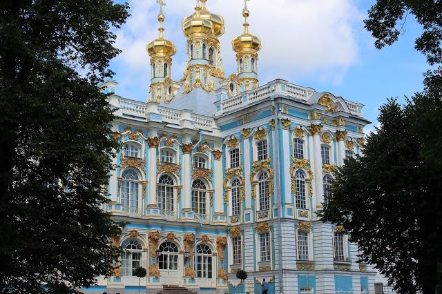 le torrette del palazzo di caterina a Pušhkin