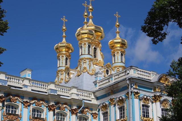 particolare del palazzo di caterina a Pušhkin