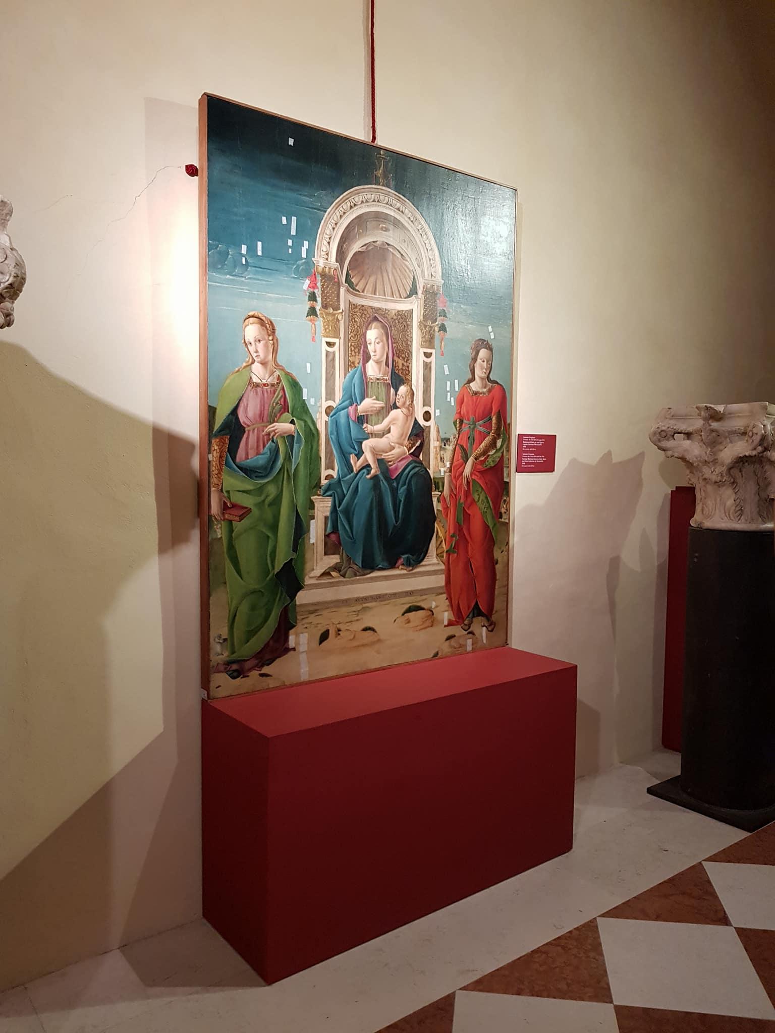 Antonio Cicognara Madonna del Latte tra Sant Agnese e Santa Caterina d Alessandria