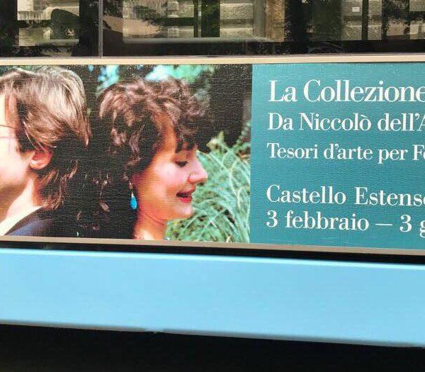Vittorio Sgarbi Elisabetta Sgarbi mostra ferrara