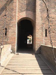 castello di ferrara accesso dal ponte levatoio