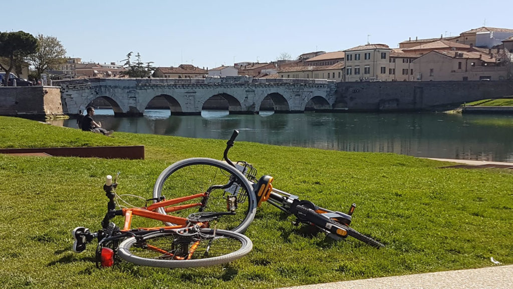 gita in bicletta a rimini