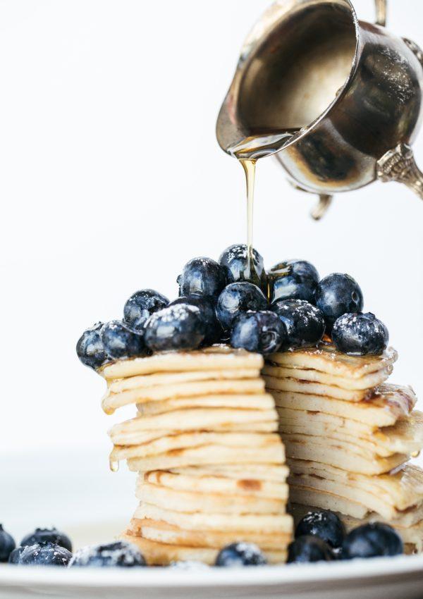 Gluten-Free Lemon Ricotta Pancakes with Honey Mascarpone Cream