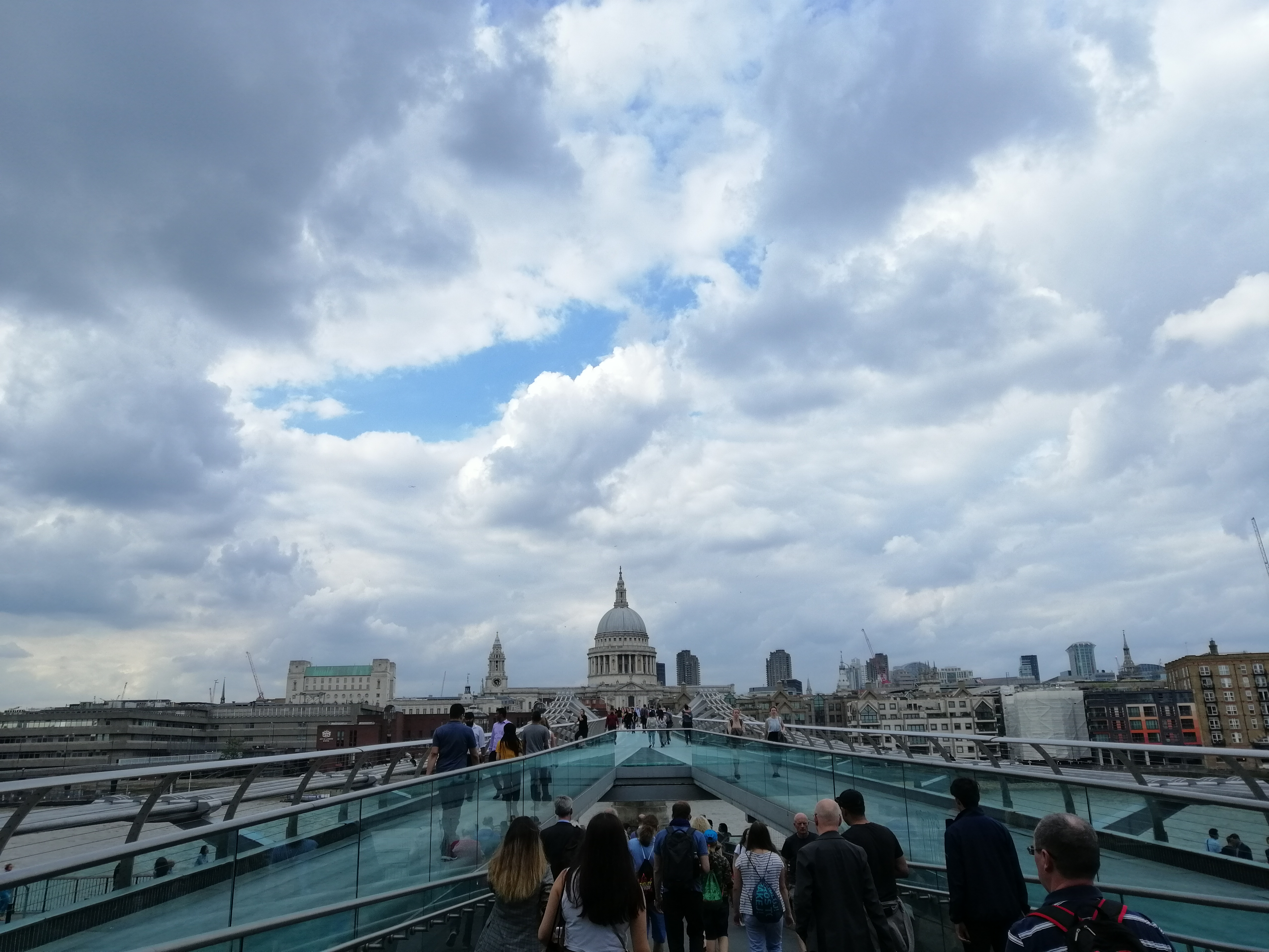 st paul londra vista dal millennium bridge