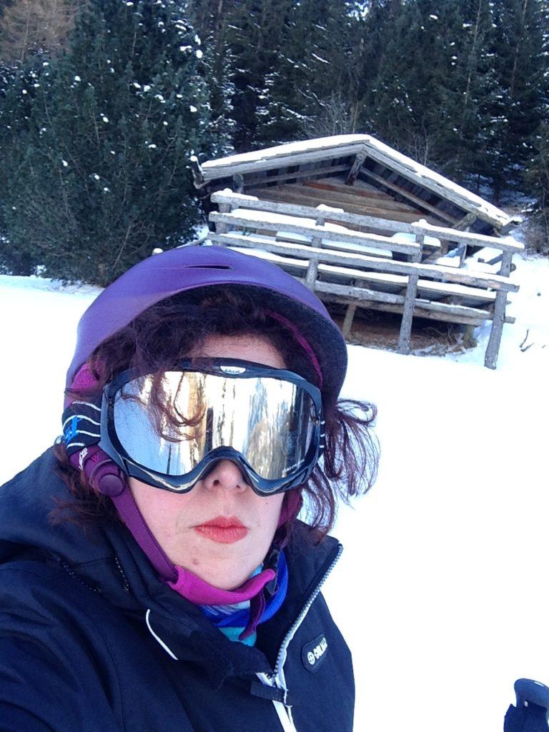 silvia ceriegi selfie mentre nevica