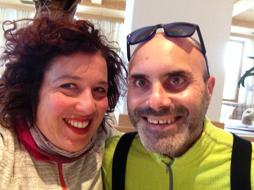silvia ceriegi e marito a sciare