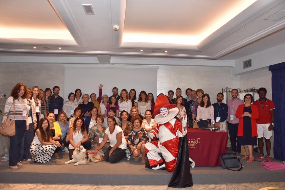gruppo del bloggingcamp 2019 con burlamacco