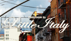 Welcome to Little Italy sign in Lower Manhattan.