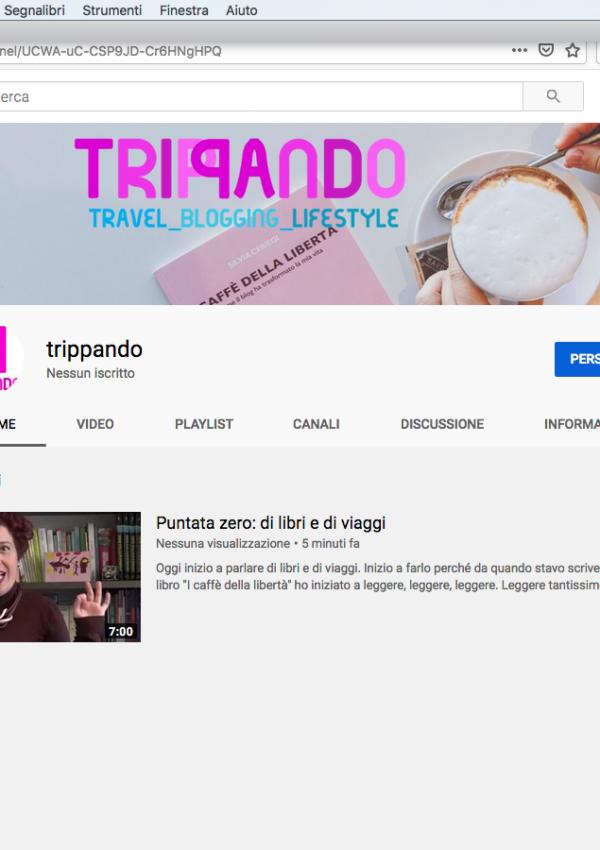 Nasce il canale YouTube di Trippando: si parlerà di libri e viaggi