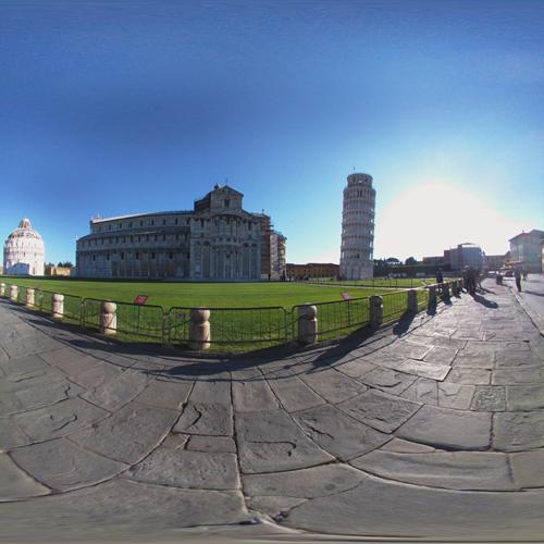 piazza dei miracoli vista a 360 gradi